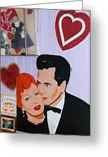 Lucille Ball At Peggy Sues Diner In Yermo California Greeting Card by Robert Ford
