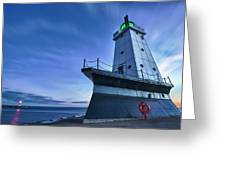 Ludington North Breakwater Lighthouse Greeting Card by Sebastian Musial