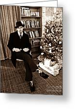 Luke On Christmas Eve Greeting Card by Sarah Loft