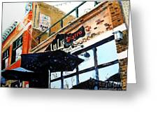 Lulu Asian Bistro Greeting Card by Tom Riggs