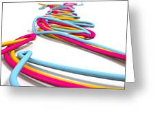 Luminous Cables Closeup Greeting Card by Allan Swart