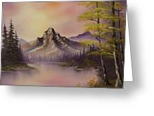 Luminous Lake Greeting Card by C Steele
