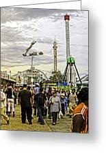 Luna Park - Coney Island - Bklyn - Ny Greeting Card by Madeline Ellis