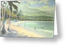 Luquillo Beach Greeting Card by Marcus Thorne