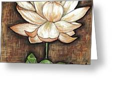Lure of the Lotus Greeting Card by VLee Watson