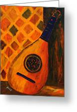 Lute By The Window  Greeting Card by Oscar Penalber