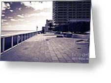 Luxury Beach Club  Greeting Card by Sophie Vigneault