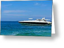 Luxury Boat Greeting Card by Aged Pixel