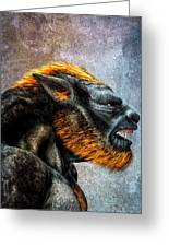 Lycan Greeting Card by Bob Orsillo