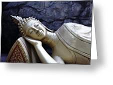 Lying Buddha Greeting Card by Mishel Breen