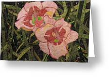 Lynda's Daylilies Greeting Card by Lynda K Boardman