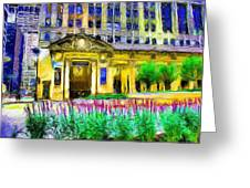 Lyric Opera House Of Chicago Greeting Card by Ely Arsha
