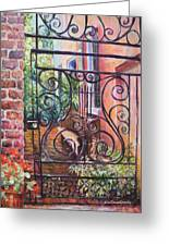 Lyrical Gate Greeting Card by Alice Grimsley