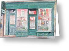 M Goldberg Glazing Court St Brooklyn New York Greeting Card by Anthony Butera