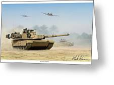 M1a2 Abrams Greeting Card by Mark Karvon