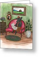 Macduff After Work Greeting Card by Margaryta Yermolayeva