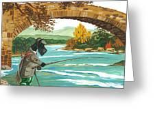 Macduff Fishing Greeting Card by Margaryta Yermolayeva