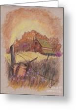 Macgregors Barn Pstl Greeting Card by Carol Wisniewski