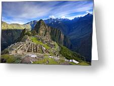 Machu Picchu Greeting Card by Alexey Stiop