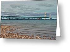 Mackinac Bridge Greeting Card by Brady D Hebert