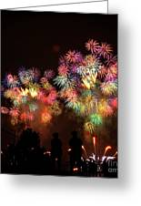 Macy's July 4th Fireworks New York City  Greeting Card by Nishanth Gopinathan