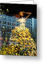 Macy's Yellow Rose Woman Greeting Card by adSpice Studios