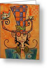 Mad Hatter Greeting Card by Ellen Henneke