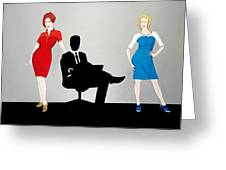 Mad Men In Technicolor Greeting Card by John Lyes