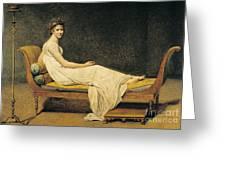 Madame Recamier Greeting Card by Jacques Louis David
