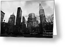 Madison Square Park Flatiron District New York City Greeting Card by Joe Fox