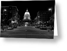 Madison Wi Capitol Dome Greeting Card by Trever Miller