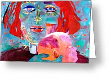 Madonna And Child Greeting Card by Diane Fine