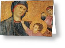 Madonna And Child Enthroned  Greeting Card by Cimabue