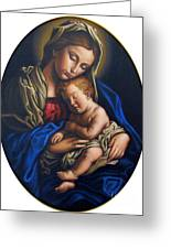 Madonna And Child Greeting Card by Jane Whiting Chrzanoska