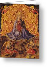 Madonna Of Humility With Christ Child And Angels Greeting Card by Fra Angelico