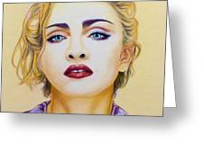 Madonna Greeting Card by Rebelwolf