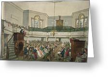 Magdalen Chapel Greeting Card by Pugin And Rowlandson