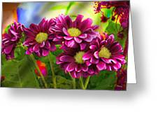 Magenta Flowers Greeting Card by Chuck Staley