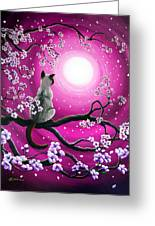 Magenta Morning Sakura Greeting Card by Laura Iverson