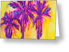 Magenta Palm Trees Greeting Card by Patricia Awapara