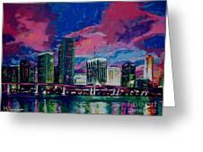 Magic City Greeting Card by Maria Arango