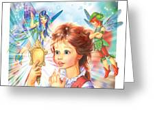 Magic Mirror Greeting Card by Zorina Baldescu