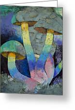 Magic Mushrooms Greeting Card by Michael Creese