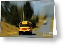 Magic School Bus Greeting Card by Ana Lusi