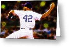 Magical Mariano Rivera Greeting Card by Paul Van Scott