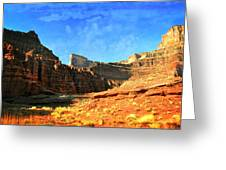 Magnificent Butte Greeting Card by Marty Koch