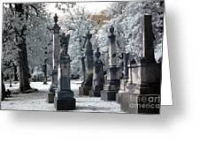 Magnolia Cemetery - Augusta Georgia - Confederate Military Graveyard Greeting Card by Kathy Fornal