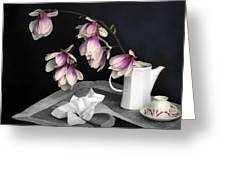 Magnolia Still Greeting Card by Diana Angstadt