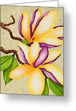 Magnolias Greeting Card by Carol Sabo