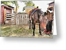 Mahaffie Stagecoach Stop And Farm Greeting Card by Liane Wright